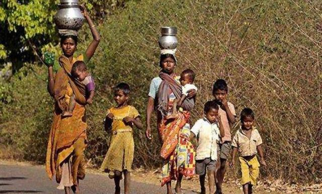 Below poverty population in India